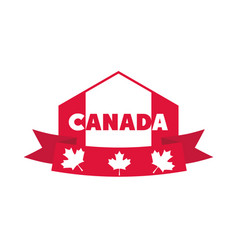 canada day canadian flag ribbon maple leaves vector image