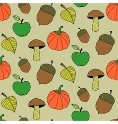 Cartoon Autumn Seamless Pattern vector image