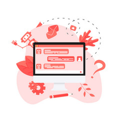 chatbot business concept vector image