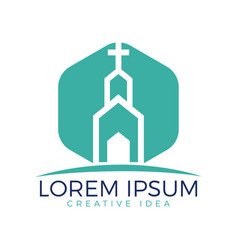 church building logo design vector image
