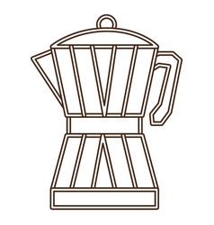 Coffee moka pot icon vector