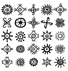 collection of sun symbols vector image