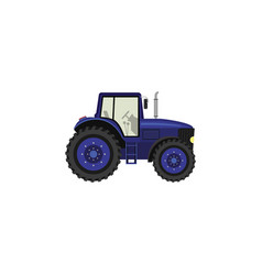 color image tractor on a white background vector image