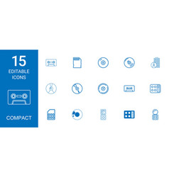 Compact icons vector