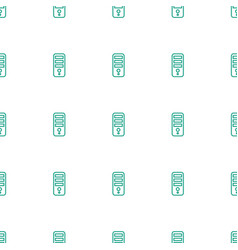cpu icon pattern seamless white background vector image