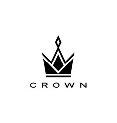 crown logo icon vector image