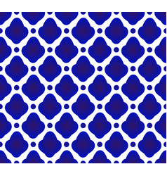 Cute ceramic pattern blue and white vector