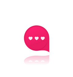 Dating app love chat icon vector