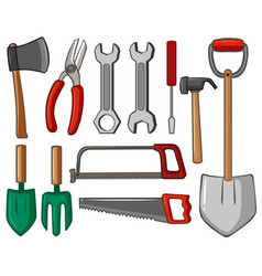 different types hand tools vector image