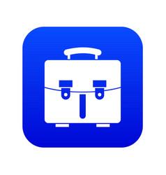Diplomat bag icon digital blue vector