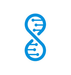 Dna logo template isolated vector