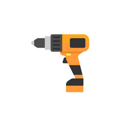 electric screwdriver flat icon build repair vector image