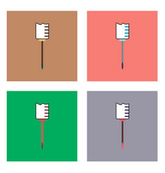 Flat icon design collection medical syringe vector