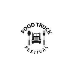Food truck festival logo template design vector