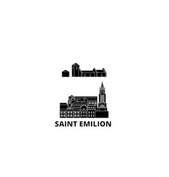 France saint emilion flat travel skyline set vector