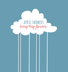Funny cloud in cartoon style on blue background vector