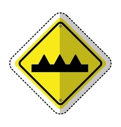 gap in track traffic signal information icon vector image