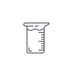 Glass laboratory beaker for measuring volume vector