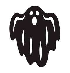 halloween ghost icon simple style vector image