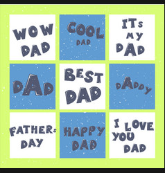 happy father s day lettering calligraphy greeting vector image