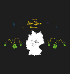 Happy new year theme with map of germany vector