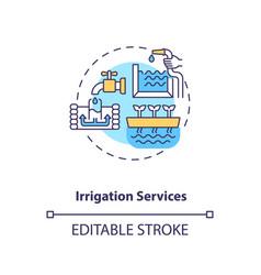 Irrigation services concept icon vector