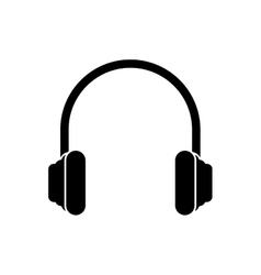 Isolated headphone device design vector image