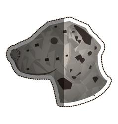 Isolated polygonal dog design vector