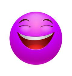 Laughing emoticon vector