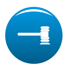 Legislation icon blue vector