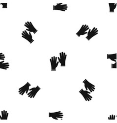 medical gloves pattern seamless black vector image