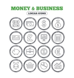 Money and business icon Cash and cashless money vector image