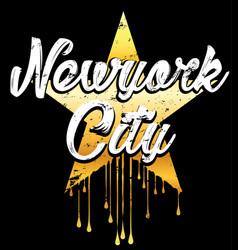 newyork typography graphic design vector image