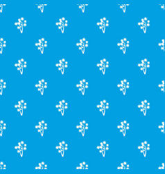 Prickly palm pattern seamless blue vector