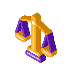 Scales law and judgement isometric icon vector