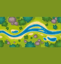 seamless border with river top view vector image