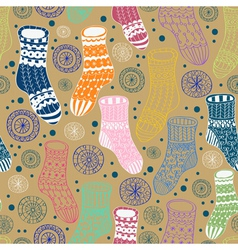 seamless hand drawn socks vector image