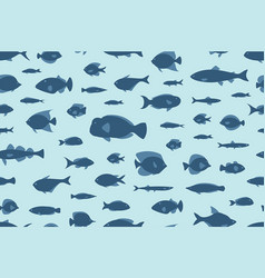 seamless pattern fishes vector image