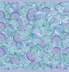 seamless sea shells pattern perfect vector image