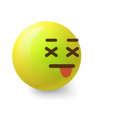 sick smiley icon cartoon style vector image