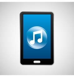 smartphone music social network media icon vector image