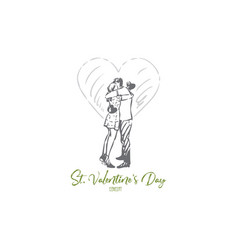 st valentine day concept sketch isolated vector image