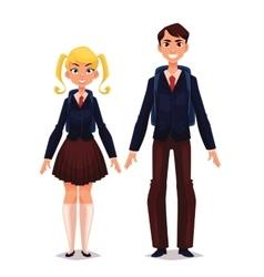 Students in school uniform vector