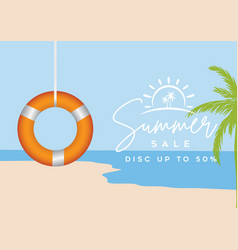 summer sale background template vector image