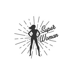 super woman with sunburst vector image