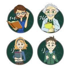 Teacher and pupil vector