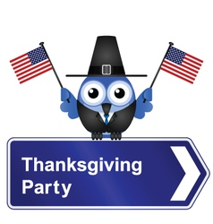 THANKSGIVING DAY PARTY SIGN vector image