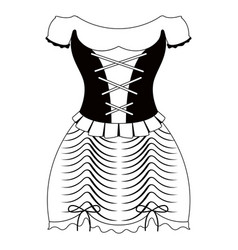 traditional oktoberfest dress icon for women vector image