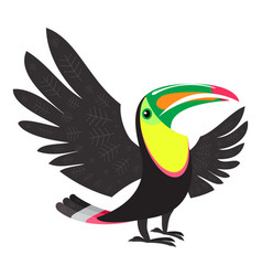 tropical toucan icon cartoon style vector image