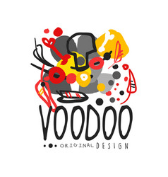 voodoo african and american magic logo with vector image